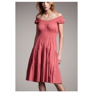Theory Haldena Crunch Midi Dress in Rose Size 6